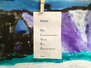 Acrostiche Hiver